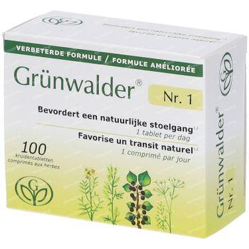 Grünwalder Nr.1 – Natuurlijke Stoelgang Nieuwe Formule 100 tabletten