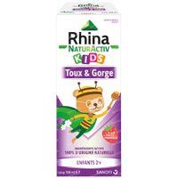 Rhina NaturActiv Kids Sirop - Soulage la Toux Sèche, Toux Grasse, Mal de Gorge 100 ml sirop pectoral