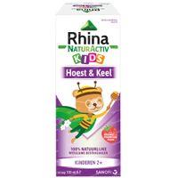Rhina NaturActiv Kids Hoestsiroop - Verlicht Droge Hoest, Slijmhoest, Keelpijn 100 ml hoestsiroop
