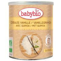 Babybio Céréales Biologiques à la Vanille et au Quinoa - Aliments Biologiques pour Bébés - Céréales pour Bébés - dès 6 Mois 220 g