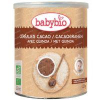 Babybio Céréales Biologiques au Cacao et au Quinoa - Alimentation Biologique pour Bébés - Céréales pour Bébés - dès 8 Mois 220 g