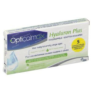 Opticalmax Hyaluron Plus GRATIS Aangeboden 5x0,5 ml