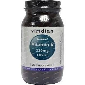 Viridian Vitamine E 400IU natural 90 capsules