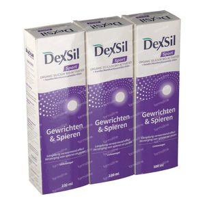 DexSil Sport Gewrichten & Spieren Gel Tripack 300 ml