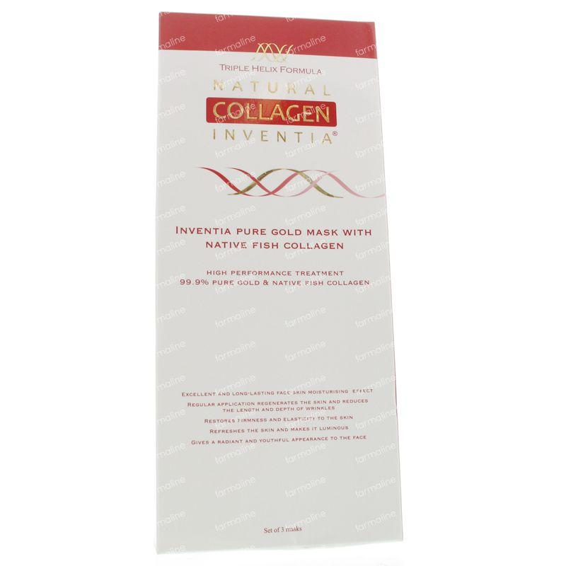 natural collagen nano gold masque facial 3 st vente en ligne. Black Bedroom Furniture Sets. Home Design Ideas