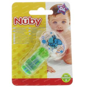 Nuby Soother Holder with Velcro Green 1 stuk