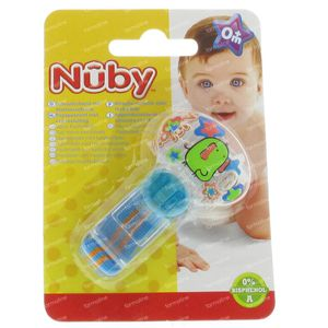 Nuby Soother Holder with Velcro Blue 1 St