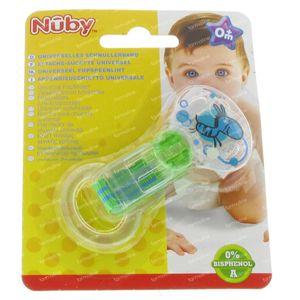 Nuby Attache-Sucette avec Silicone Ring Vert 1 pièce