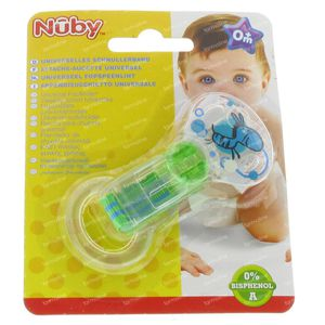 Nuby Soother Holder with Silicone Ring Green 1 St