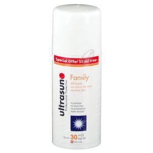 Ultrasun High SPF30 Super Sensitive Family 50 ml Gratuit 150 ml