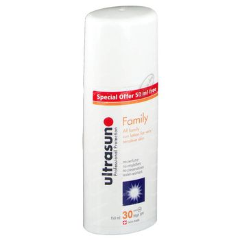 Ultrasun High SPF30 Super Sensitive Family 50 ml Gratis 150 ml