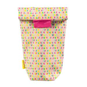 Difrax Bottle Bag Isolating Pink Flowers 1 St