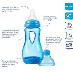 Difrax Easy Grip Baby Bottle Bleu 170ml 170 ml