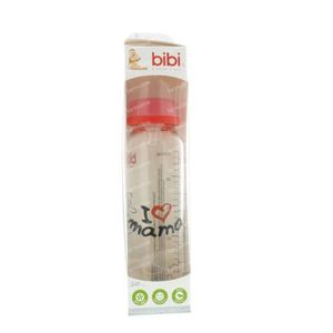 Bibi Feeding Bottle Glass Mum 250 ml