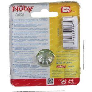 Nuby Sucette Mini Brites Ovale 0-6m Rose 1 pièce