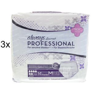 Always Discreet Profesional Pants Plus Medium 2 + 1 GRATIS 42 stuks