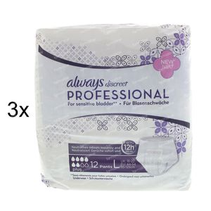 Always Discreet Professional Pants Plus Large 2 + 1 GRATIS 36 stuks
