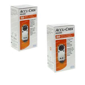 Accu-Chek Mobile Cassette - Test Duopack 2x50 pièces