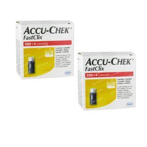 Accu-Chek Fastclix Lancettes Duopack 408 pièces