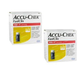 Accu-Chek Fastclix Lancetten DUO 2x204 stuks