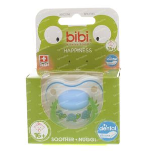 Bibi Dental Soother Happiness +16 Months Blue/Green Turtles 1 item