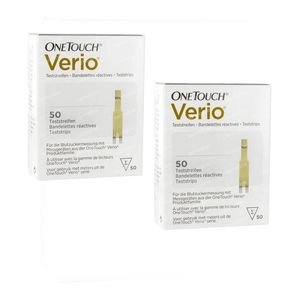 One Touch Verio Teststrips Duopack 2x50 stuks