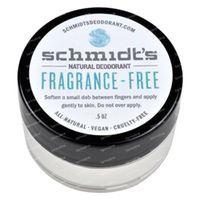 Schmidt's Natural Deodorant Fragrance Free Travel 15 ml