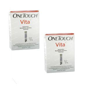 One Touch Vita Teststrips Duopack 100 stuks