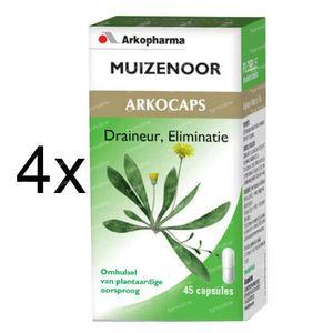 Arkocaps Muizenoor Plantaardig 3 + 1 GRATIS 180 St Capsules