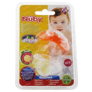 Nuby Pacifier Glow In The Dark Orthodontic Orange 6-18m 1 item