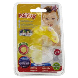 Nuby Pacifier Glow In The Dark Orthodontic Yellow 6-18m 1 item