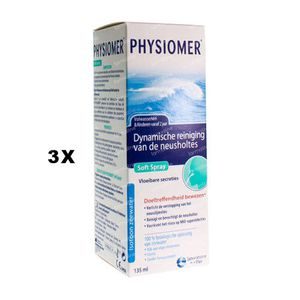 Physiomer Soft Spray 2 + 1 GRATIS 3 x 135 ml oplossing