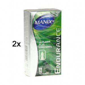 Manix Endurance Préservatifs 1 + 1 GRATUIT 2 x 12 St