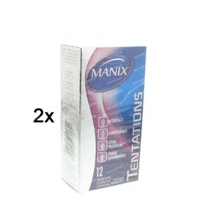 Condoms Manix Tentations Mix 1 + 1 GRATIS 2 x 12 pezzi