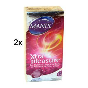 Manix Xtra Pleasure Condoms 1 + 1 GRATIS 2 x 12 St