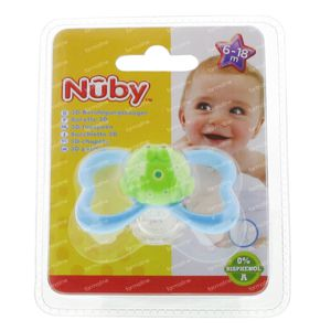Nuby 3D-Fopspeen Paci-Pals Ovaal Monstertje Turquoise 6-18M 1 St