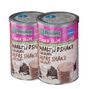 Damhert Afslank Maaltijdshake Chocolade 1+1 GRATIS 2x522 g