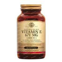 Solgar Vitamin E 671 mg/1000 IU Complex 100  gélules souples