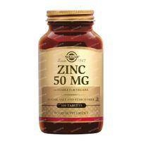 Solgar Zinc 50 mg 100  comprimés