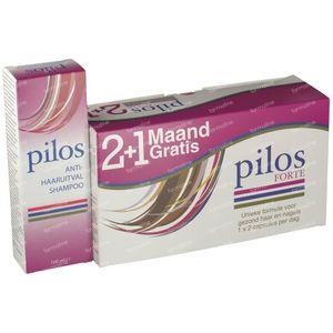 Pilos Forte 2+1 Monat GRATIS + Anti-Haarausfall-Shampoo GRATIS 120+60 kapseln