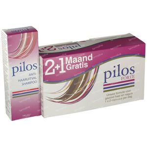 Pilos Forte 2+1 Month For FREE + Anti Hair Loss Shampoo 150 ml for FREE 120+60 capsules