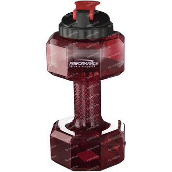 Performance Dumbbell Flasche Rot 2,2 l