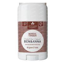 Ben & Anna Natürliches Deo Stick Nordic Timber 60 g