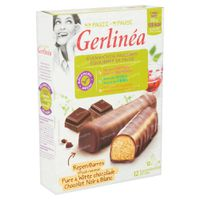 Gerlinéa Ma Pause Barres Chocolat Noir & Blanc 12x31 g