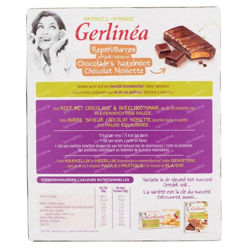 Gerlinéa Ma Pause Barres Chocolat & Noisette 8x20 grams ...