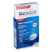 Steradent Triple Action Plus - Kunstgebitreiniger 90  tabletten