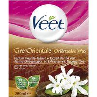 Veet Pot Afspoelbare Oriëntaalse Was - Jasmijnbloesemgeur en Extracten van Groene Thee 250 ml