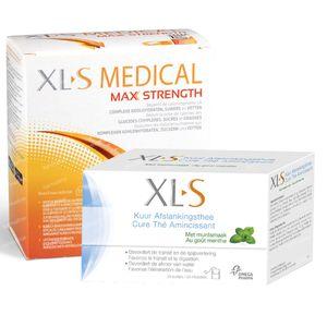 XLS Medical Max Strength 120 Tabletten + XLS Cure Afslankingsthee Munt 40 g GRATIS 1 set