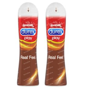 Durex Play Real Feeling Gleitmittel Duopack 2x50 ml