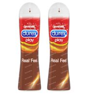 Durex Play Real Feeling Lubrifiant Duopack 2x50 ml